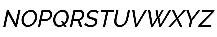 Raleway Medium Italic Font UPPERCASE