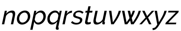Raleway Medium Italic Font LOWERCASE