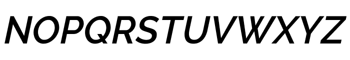Raleway SemiBold Italic Font UPPERCASE