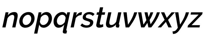 Raleway SemiBold Italic Font LOWERCASE