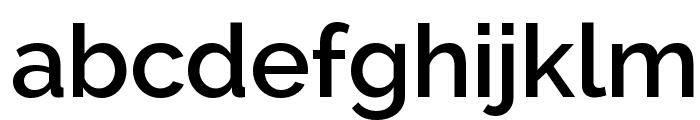 Raleway SemiBold Font LOWERCASE