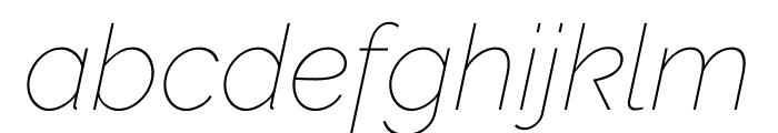 Raleway Thin Italic Font LOWERCASE