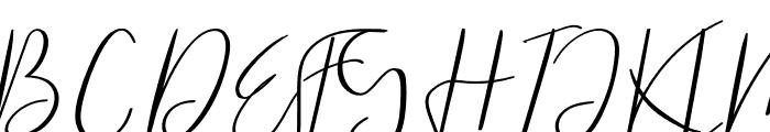 Raliangi Font UPPERCASE