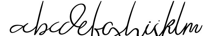 Raliangi Font LOWERCASE