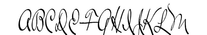 RalphWalker Font UPPERCASE