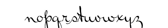RalphWalker Font LOWERCASE