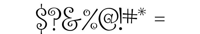 Ralphie Brown Regular Font OTHER CHARS