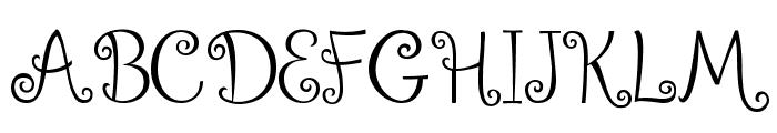 Ralphie Brown Regular Font UPPERCASE
