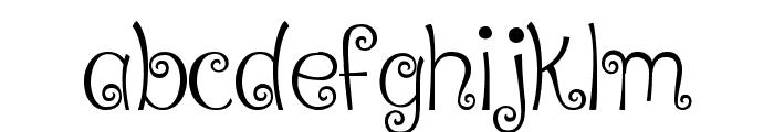 Ralphie Brown Regular Font LOWERCASE