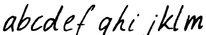 Ramona Handwriting Regular Font LOWERCASE