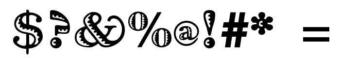 Ramona Regular Font OTHER CHARS