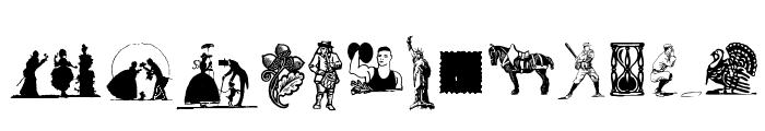 Random Dingbats Font LOWERCASE