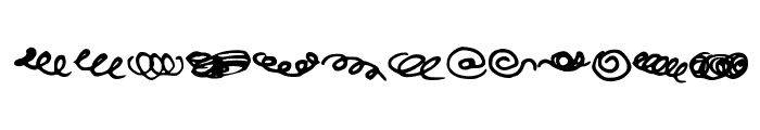 Random Swirls Font UPPERCASE