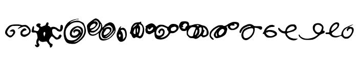 Random Swirls Font LOWERCASE