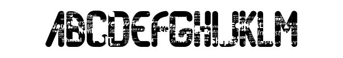 RandomAccessMemory Font UPPERCASE