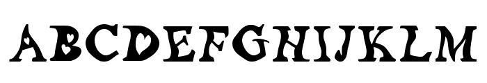 Random_at_heart__by_lae Regular Font UPPERCASE