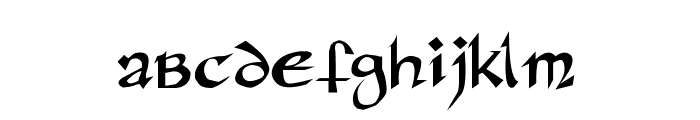 Rane Insular Font LOWERCASE