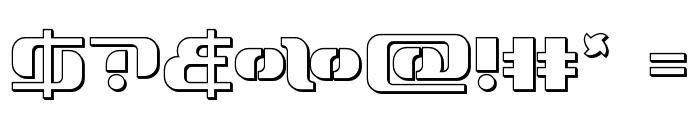 Range Paladin Outline Font OTHER CHARS