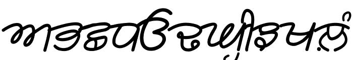 Rangsaaz gurmukhi cursive roman Font UPPERCASE