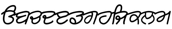 Rangsaaz gurmukhi cursive roman Font LOWERCASE