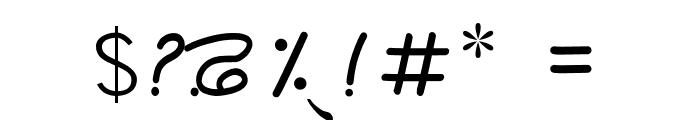 Rangsaaz gurmukhi cursive Font OTHER CHARS