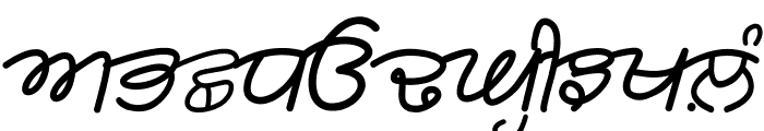 Rangsaaz gurmukhi cursive Font UPPERCASE