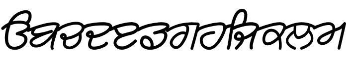 Rangsaaz gurmukhi cursive Font LOWERCASE