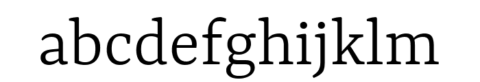Rasa Light Font LOWERCASE
