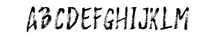 Rashford Font UPPERCASE