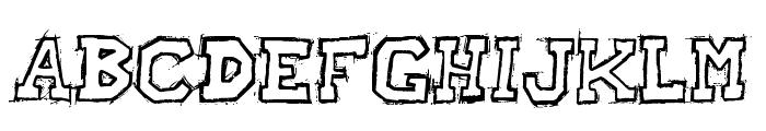Raslani American letters Bold Font UPPERCASE