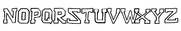 Raslani American letters Bold Font LOWERCASE