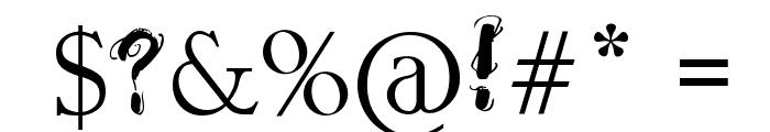 Raslani Ancient Script Font OTHER CHARS