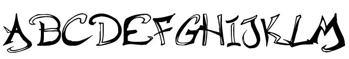 Raslani Hip Hop Font UPPERCASE