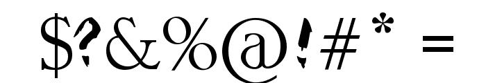 Raslani Kavaliar Kaiser Font OTHER CHARS