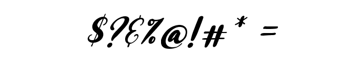 Raspberry Italic Font OTHER CHARS