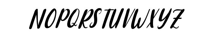 Raspberry Italic Font UPPERCASE
