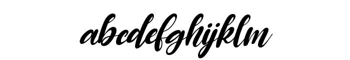 Raspberry Italic Font LOWERCASE