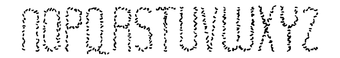 Rastaerize Font LOWERCASE