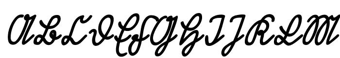Rastenburg Schraeg U1SY Font UPPERCASE