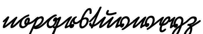 Rastenburg Schraeg U1SY Font LOWERCASE