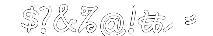 Rastenburg U1SY Font OTHER CHARS