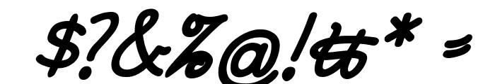 RastenburgSchraegU1SY-Bold Font OTHER CHARS