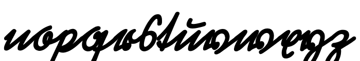 RastenburgSchraegU1SY-Bold Font LOWERCASE