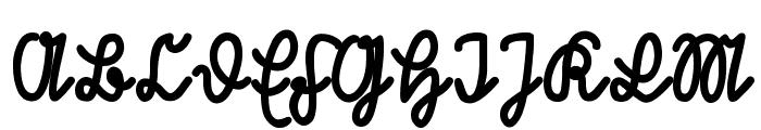 RastenburgU1SY-Bold Font UPPERCASE
