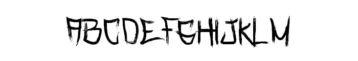 Rasterized-Regular Font UPPERCASE