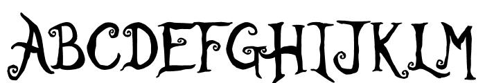 Rather Unfortunate Font UPPERCASE