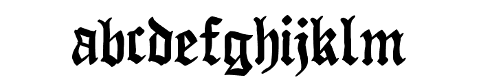 Raubtier Font LOWERCASE