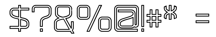 RaveParty Hollow Font OTHER CHARS