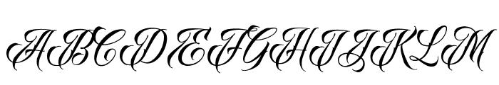 RavenScriptDEMO Font UPPERCASE