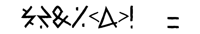 Raw Delta Hand Street Font OTHER CHARS